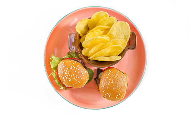 piatti bambini - steak 40 - piatto centro