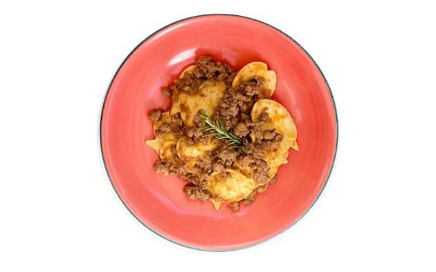 piatti bambini - steak 26 - piatto filante sugo centro